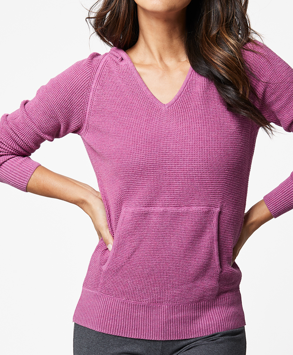 Hooded Pullover Sweater $80